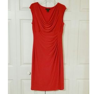 Ralph Lauren dress, career red midi size 12